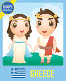 The cute couple doll of Greek Royalty Free Stock Images