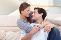 Cute couple embracing each other Stock Image