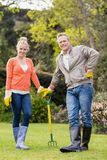 Cute couple gardening Stock Photography