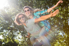 Cute couple having fun in park Royalty Free Stock Photography