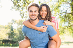 Cute couple having fun in park Royalty Free Stock Photo