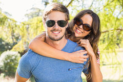 Cute couple having fun in park Stock Photography