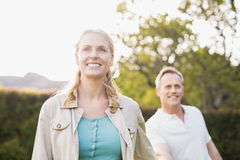 Cute couple holding hands Stock Images