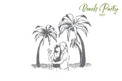 Cute couple on holiday together, summertime beach date, seaside activity for lovers, people hugging on oceans shore. Summer honeymoon travel concept sketch vector illustration