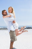 Cute couple hugging on the beach Royalty Free Stock Photo