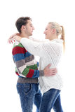 Cute couple are inlove in each other Royalty Free Stock Images