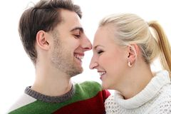 Cute couple are inlove in each other Royalty Free Stock Image