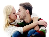 Cute couple are inlove in each other Royalty Free Stock Photos