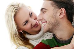 Cute couple are inlove in each other Stock Photography