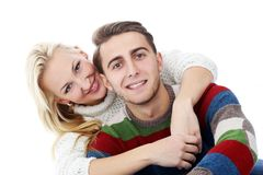 Cute couple are inlove in each other Stock Images