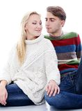 Cute couple are inlove in each other Royalty Free Stock Photography