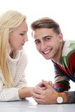 Cute couple are inlove in each other Stock Photos