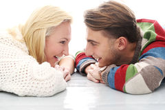 Cute couple are inlove in each other Stock Photo