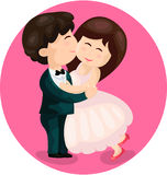 Cute couple kissing Royalty Free Stock Photography