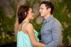 Cute couple looking at each other Royalty Free Stock Images