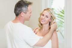 Cute couple looking at each other Royalty Free Stock Image
