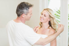 Cute couple looking at each other Stock Image