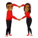 Cute Couple Love Arms Shape Stock Photography