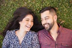 Cute couple in love Stock Photos