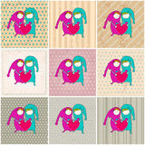 Cute couple in love illustrations Royalty Free Stock Photos