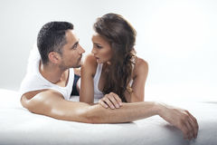 Cute couple lying Royalty Free Stock Photo