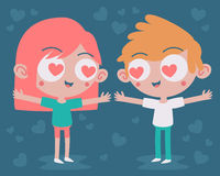 Cute Couple Madly in Love Royalty Free Stock Photo