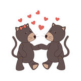 Cute couple mouses baby toy icon Royalty Free Stock Photography