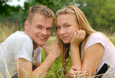 Cute couple outdoor Stock Photo