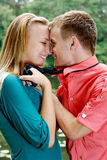 Cute couple outdoor Stock Images