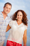 Cute Couple Outdoor Portrait Royalty Free Stock Image