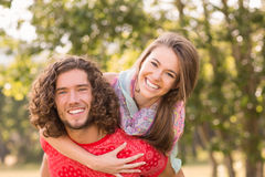 Cute couple in the park Stock Photo
