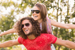 Cute couple in the park Royalty Free Stock Photo