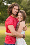 Cute couple in the park Royalty Free Stock Photography