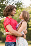 Cute couple in the park Royalty Free Stock Images
