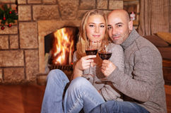 Cute couple on romantic date Stock Photography
