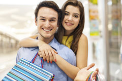 Cute couple during shopping Stock Image