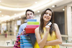 Cute couple during shopping Stock Photography