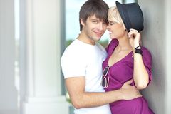 cute couple smiling Royalty Free Stock Photography