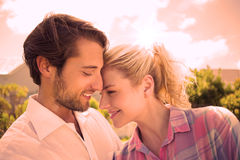 Cute couple spending time together outside Stock Images