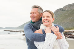 Cute couple standing and holding each other Royalty Free Stock Photography