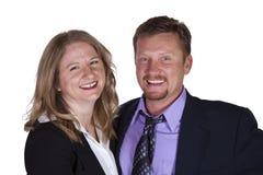 Cute Couple - Studio Shot on White Background Royalty Free Stock Image