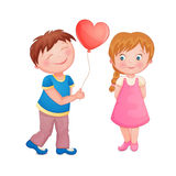 Cute couple on Valentine's Day Royalty Free Stock Photo