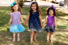Cute cousins holding hands Royalty Free Stock Photo