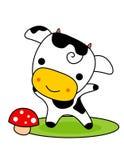 Cute cow stock photo