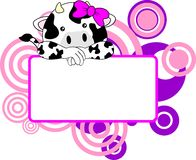 Cute cow baby girl copyspace Royalty Free Stock Photo