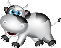 Cute cow cartoon Stock Image