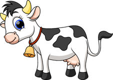 Cute cow cartoon Royalty Free Stock Images