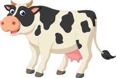 Cute cow cartoon Royalty Free Stock Image