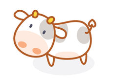 Cute cow cartoon posing Stock Image