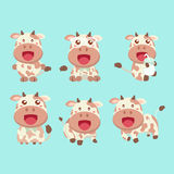 Cute cow cartoon. Royalty Free Stock Image